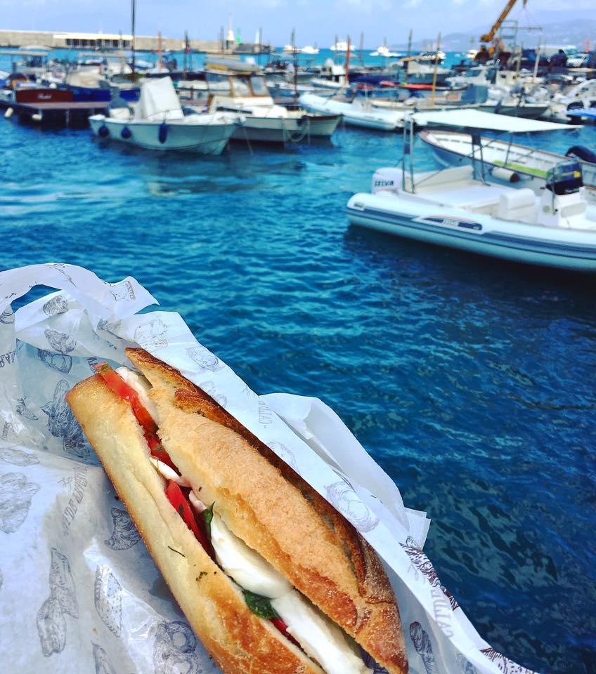 A panino from Aldo's at Marina Grande