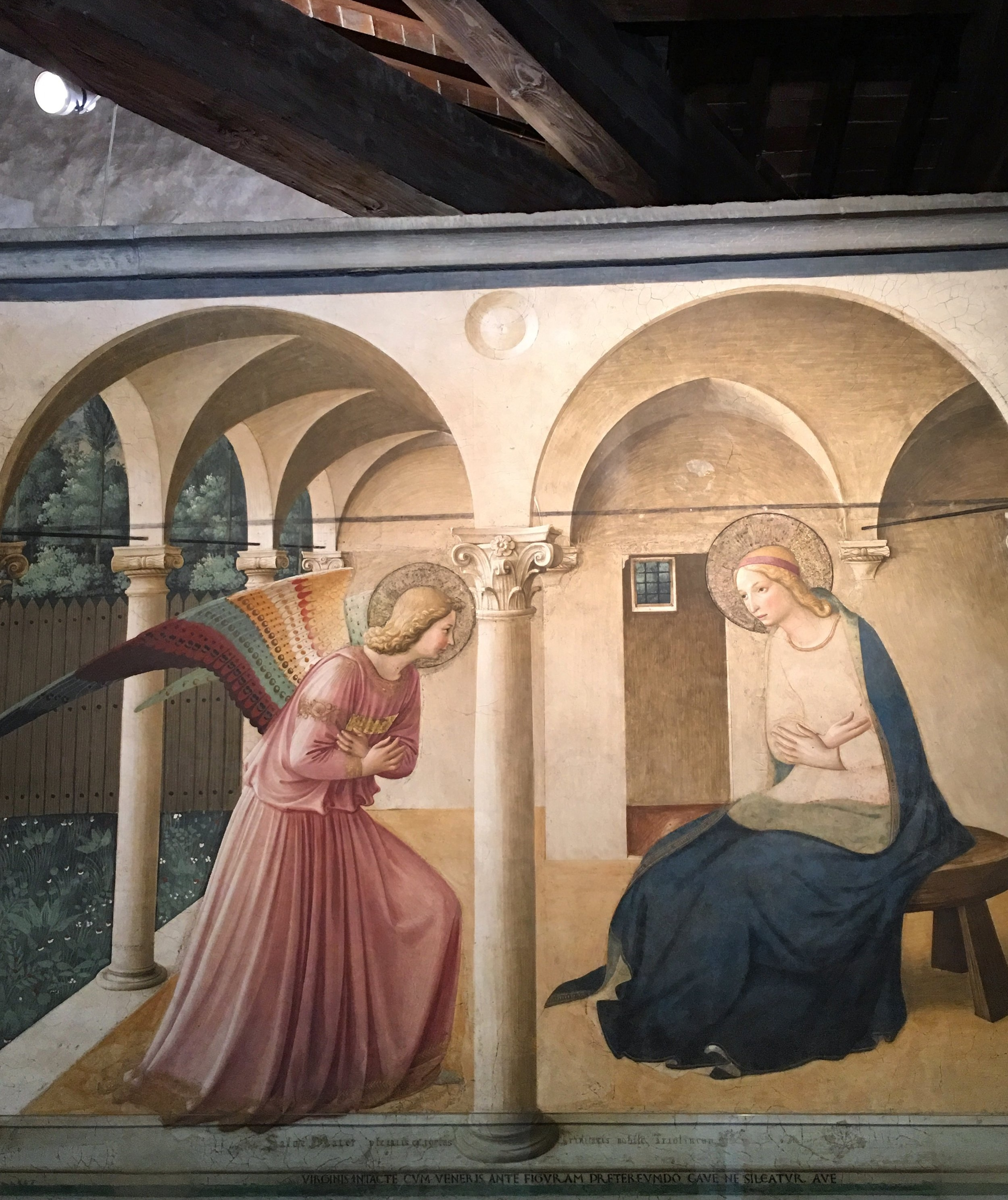 Fra Angelico's magnificent fresco of the Annunciation