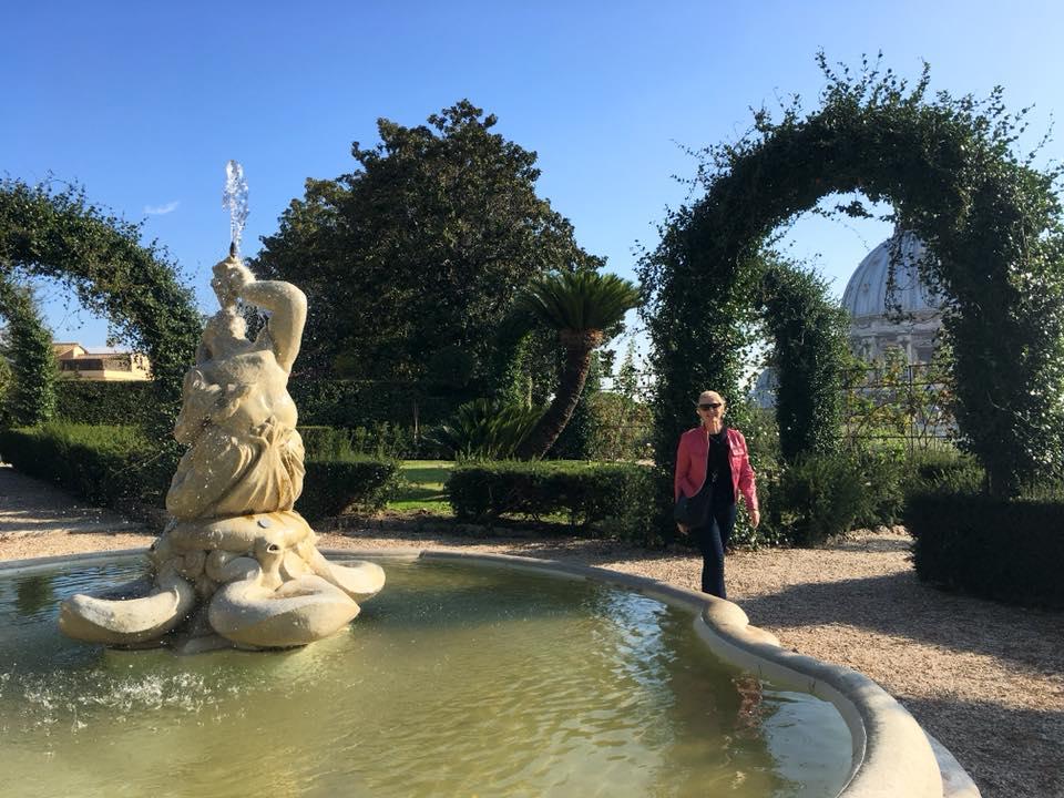 Enjoying the Vatican Gardens