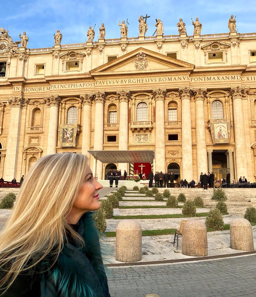 Morning light in St. Peter's Square on Palm Sunday