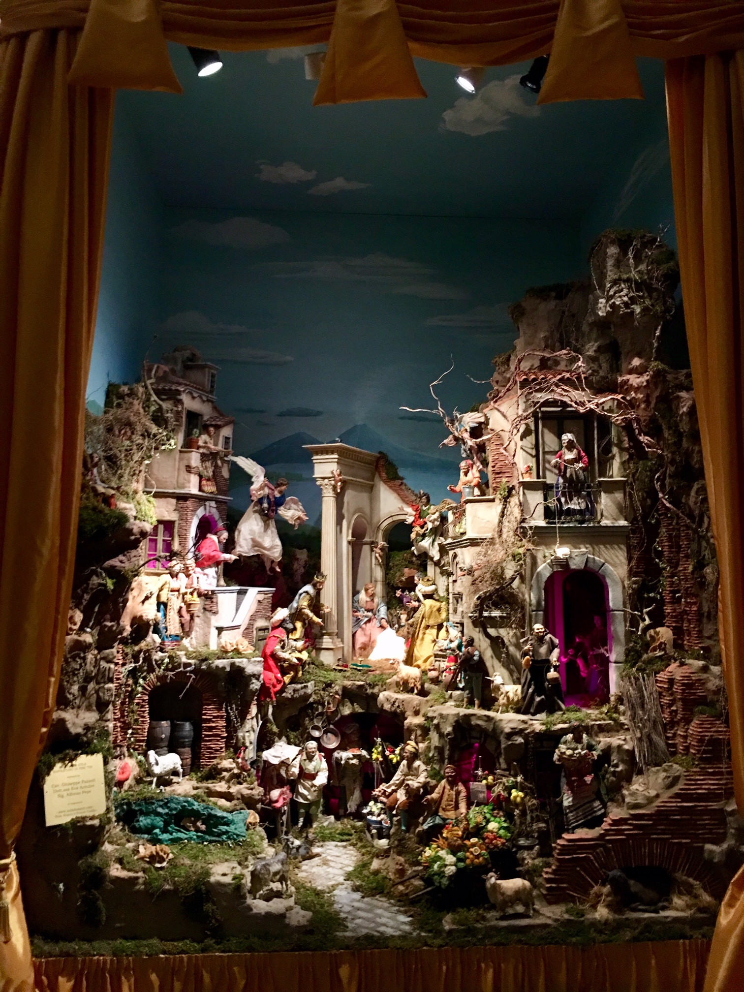Nativity Scene inside the Sistine Chapel