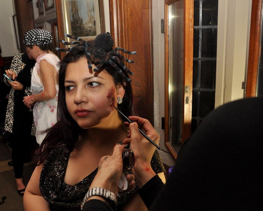 MAKEUP ARTIST  What better to have at a Halloween Party than a Makeup Artist on hand to help Guests get into the 'Chez Hitchcock' spirt!. Thank you to  Anne Marie  for donating her talent!