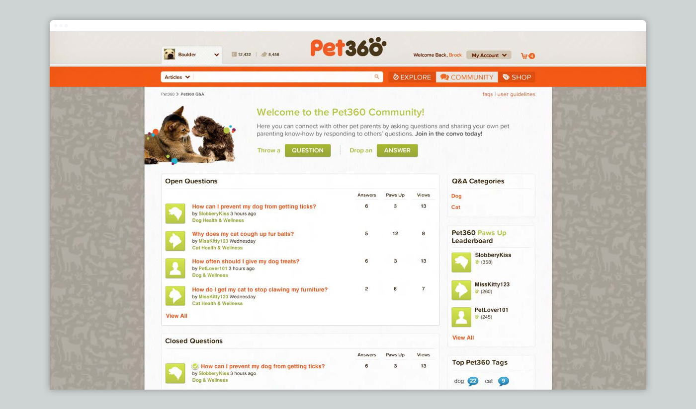 Pet360 facilitated a robust and high-engaged community of pet parents.