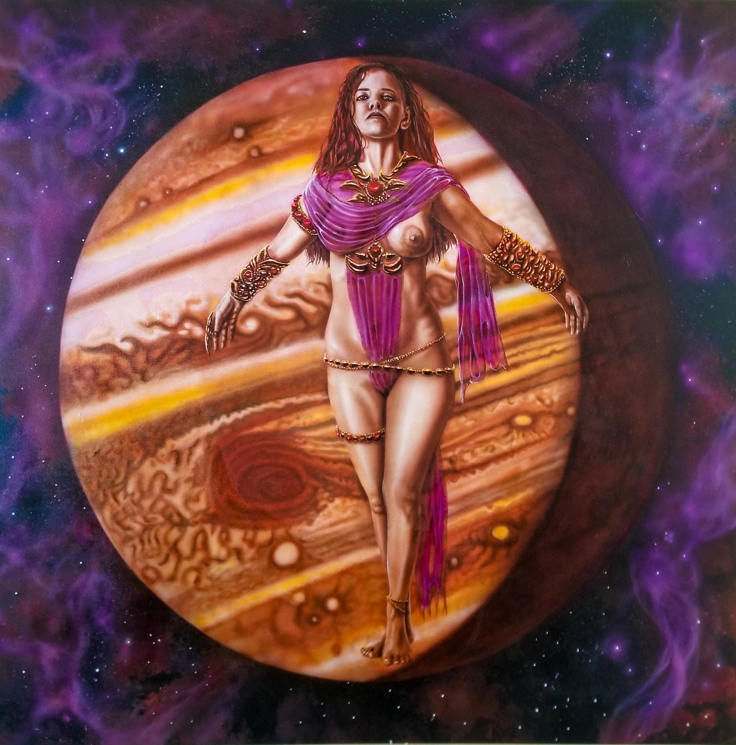 Jupiter - Acrylics on canvas