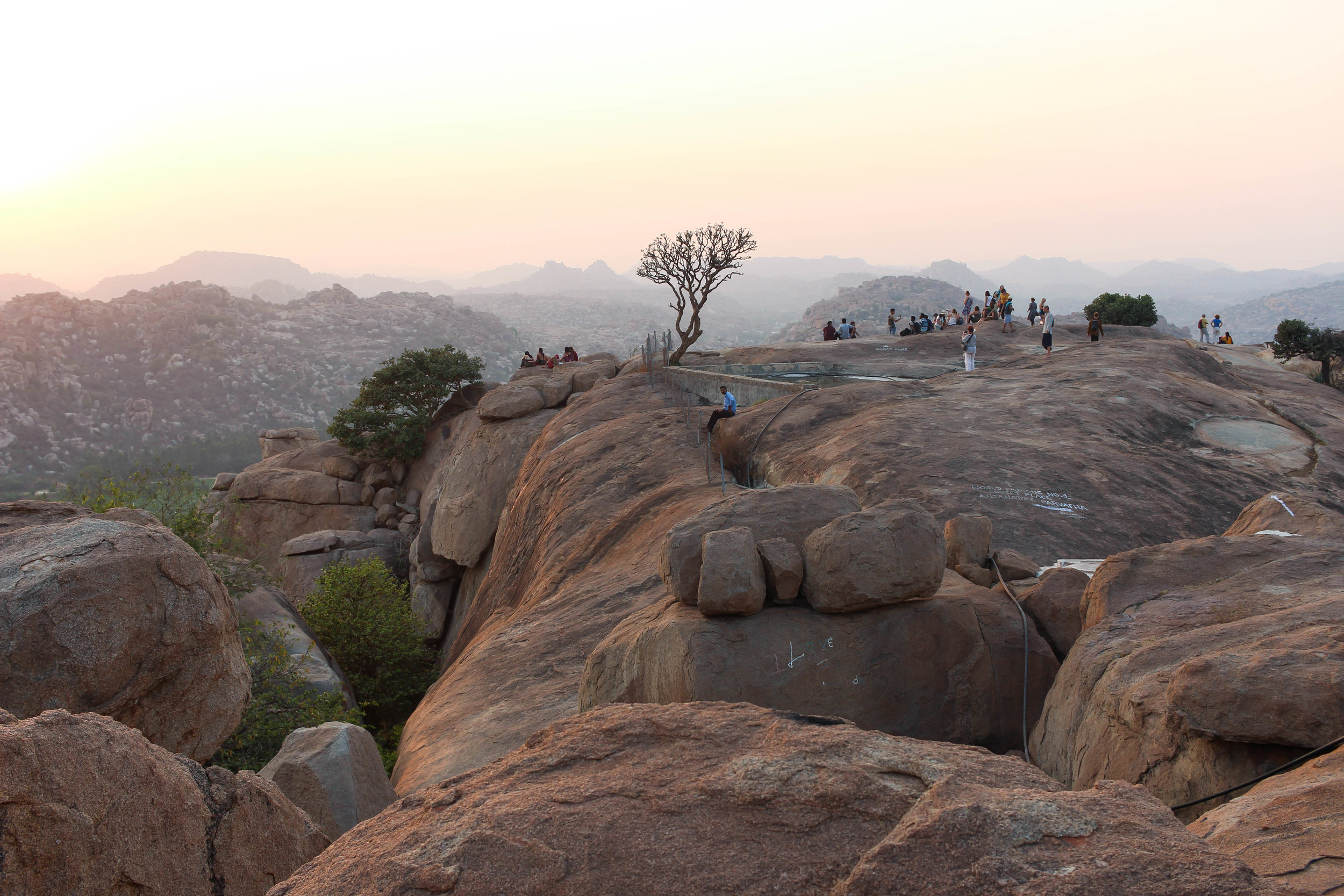 "Views from Hanuman ""Monkey"" Temple at sunset"