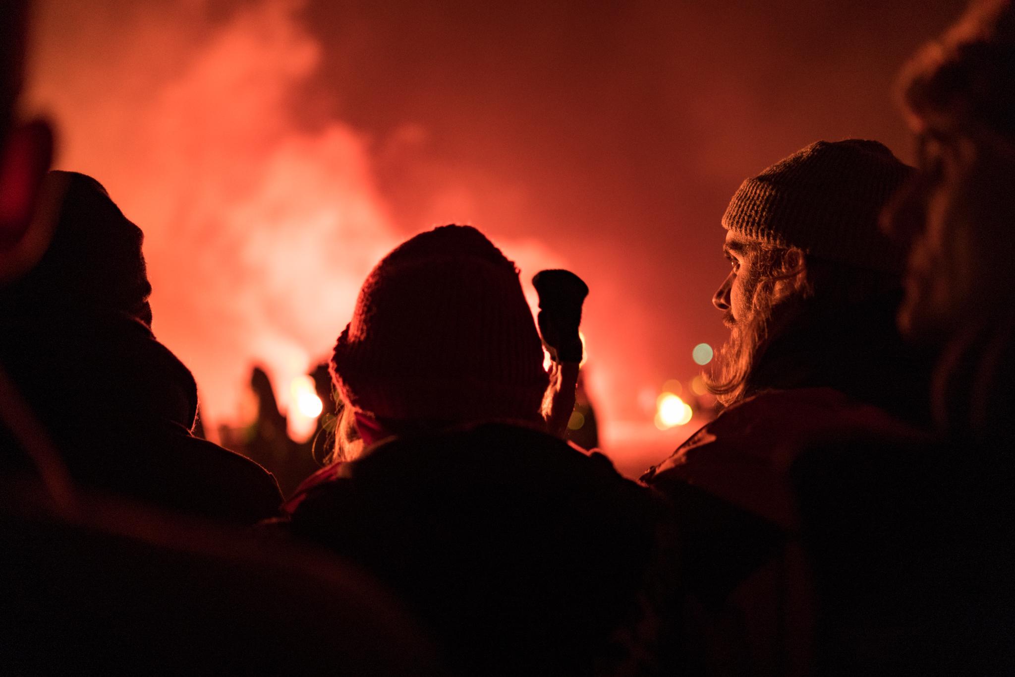 Watching Cliffe Bonfire Society's bonfire
