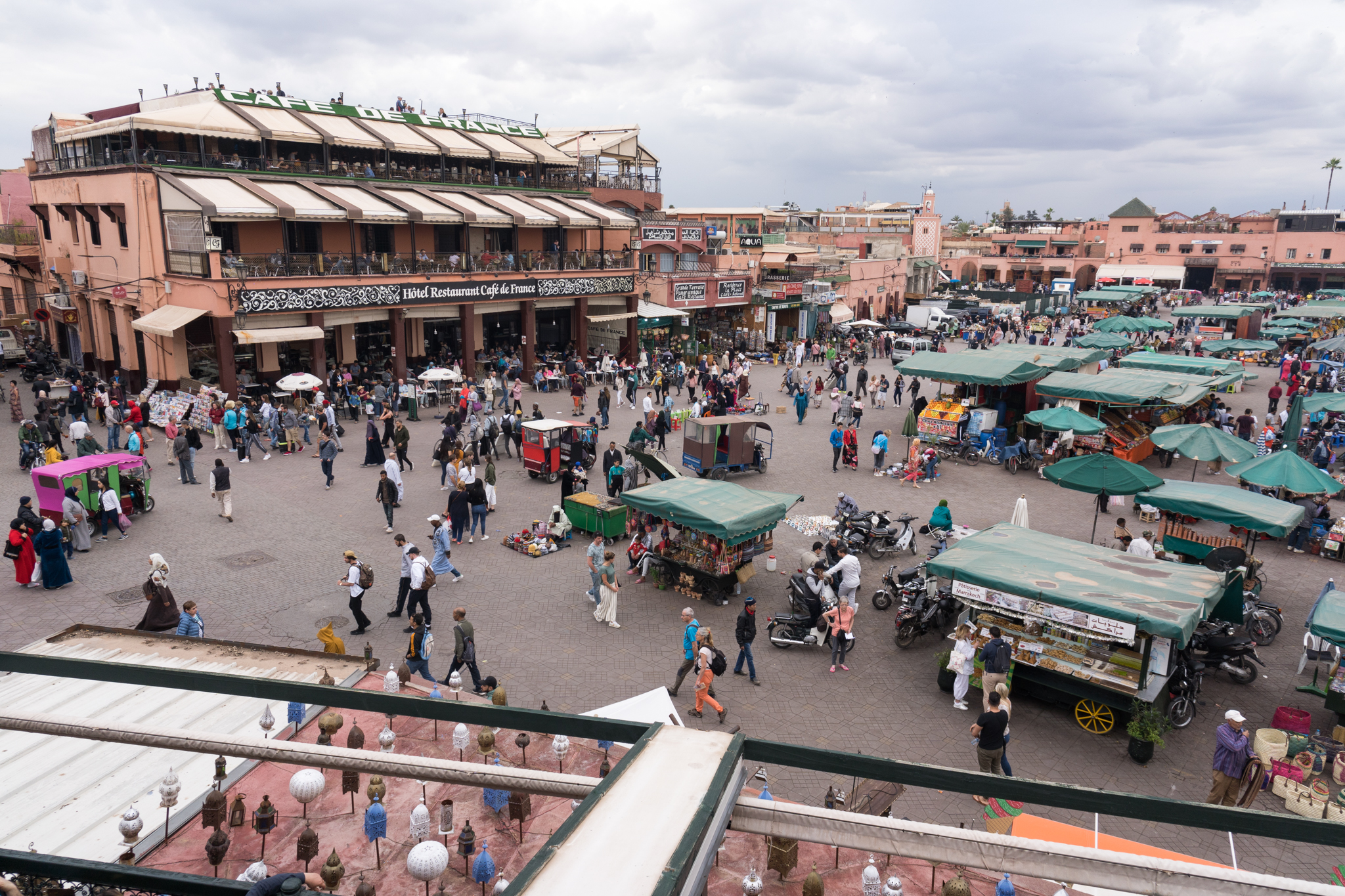 Jemaa el-Fna, the main square in the heart of Marrakech