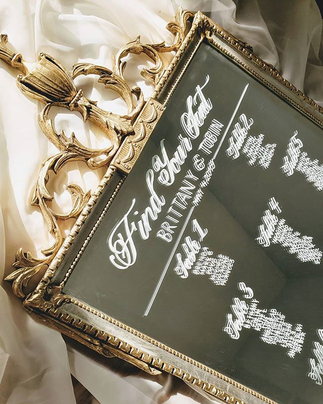 A golden morning calls for a gold seating chart 💛 congratulations to the lovely couple to wed this upcoming weekend! 😘