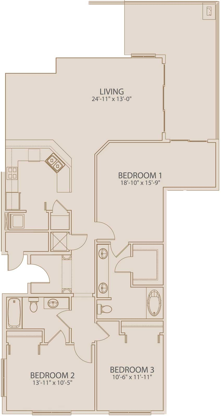 The layout of 803 Avalon