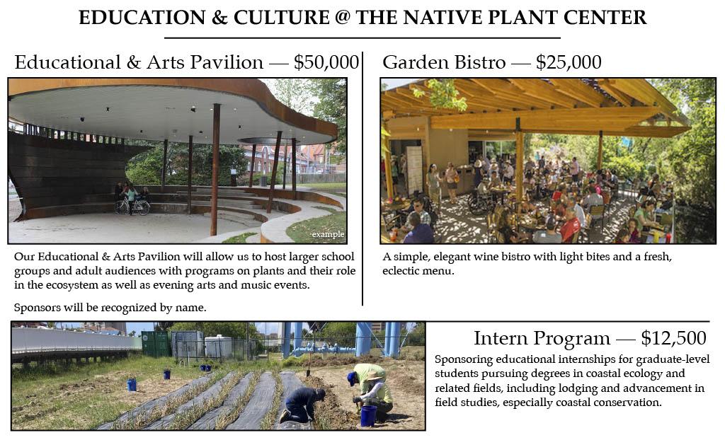 Or help sponsor our Garden Bistro or Intern Program pictured above.