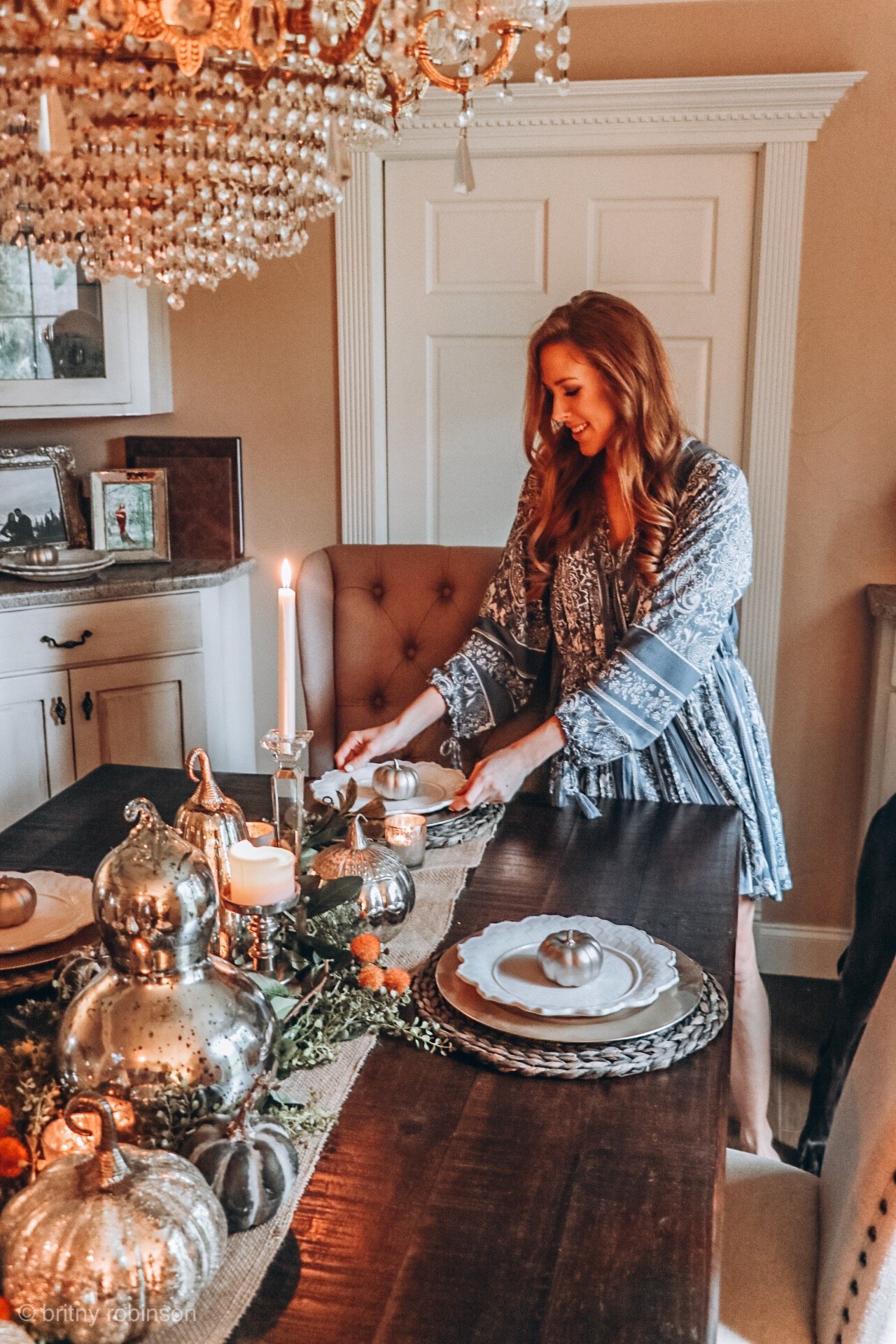 how to decorate your fall tablescape