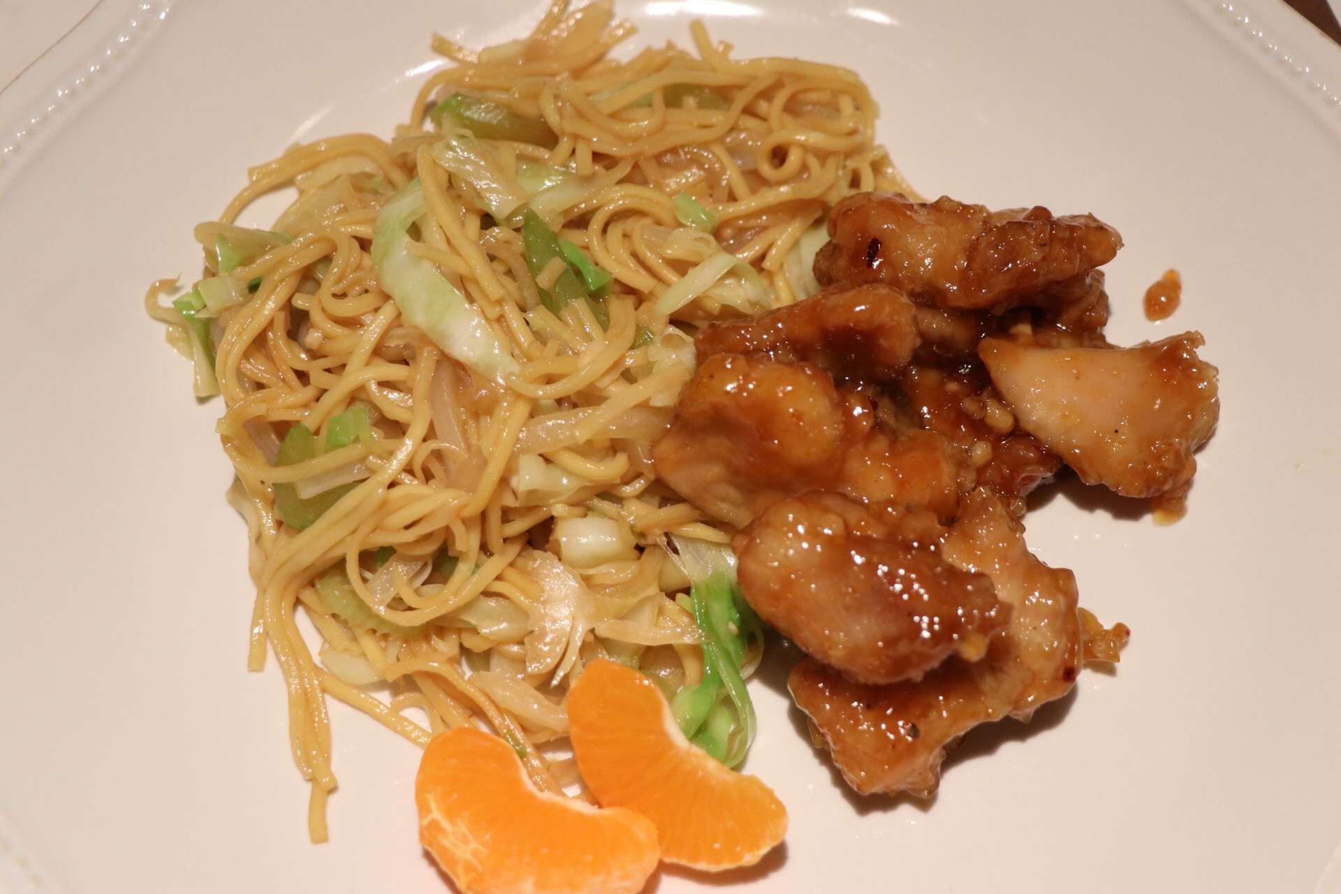 Homemade Orange Chicken and Chow Mein Recipe