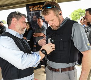 Whenever a shot is detected – whether fired from an officer's gun or a suspect – the bodycam automatically starts recording. (Photo/Utility Associates, Inc.)