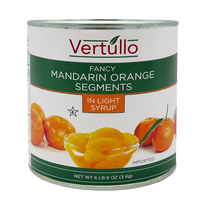 MANDARIN ORANGE SEGENTS - Our Mandarin Orange Segments are packed in sweet and tangy juice. Great in stir fry, appetizers, baked goods and more.Item 02610 // Case Pack: 6/3 Kg. // Case Net Wt: 40 lbs. // Product of China // MORE INFO