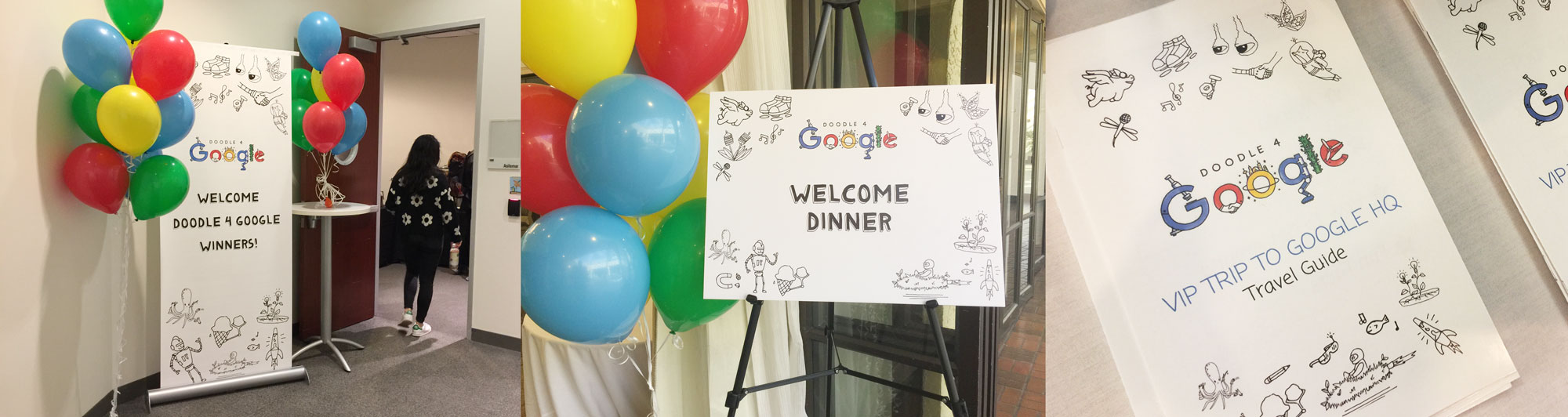 Event materials seen at the Doodle 4 Google 2017 finalist event held in Mountain View.