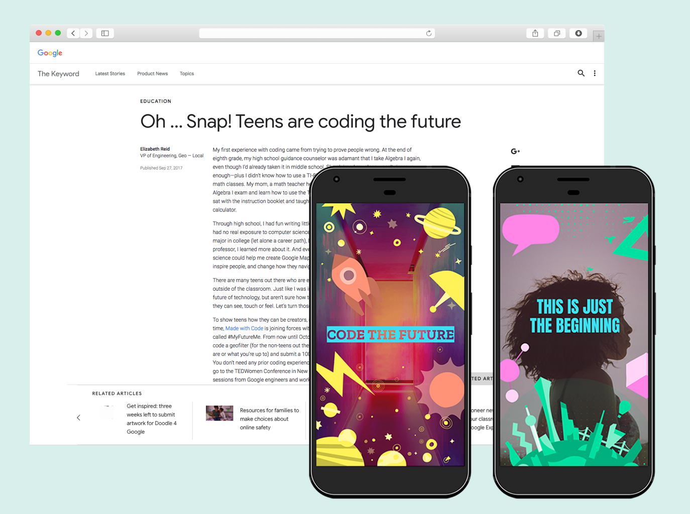 Designed snapchat geofilters promoted through blog and social channels.