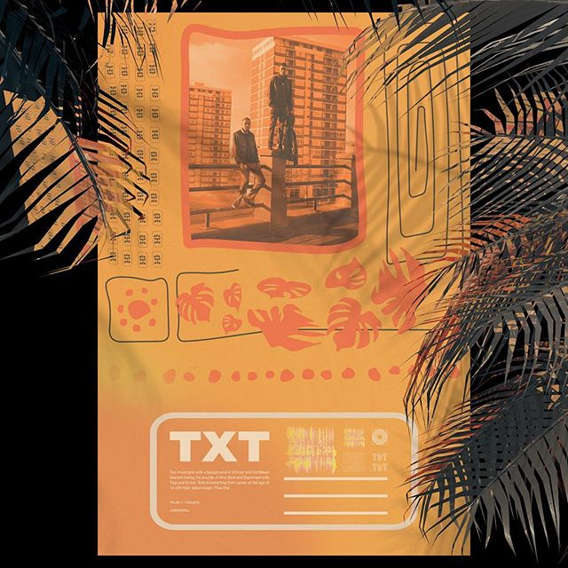 Buzzin to be part of the @levis_uk Liverpool Music Project with @loylecarner and other Liverpool based designers and musicians. Here's my artwork for @txtmusic_ and @ssjlvp — a duo and rapper you should definitely check out