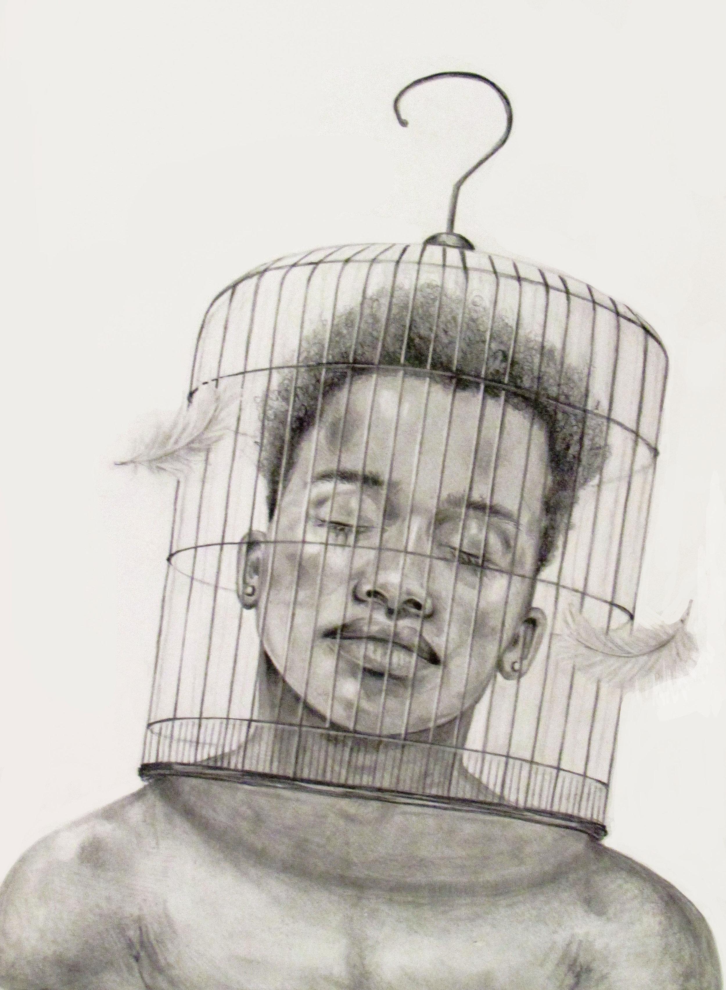 "Celia Friedrich (Pattonville High School), ""Caged,"" 2017"