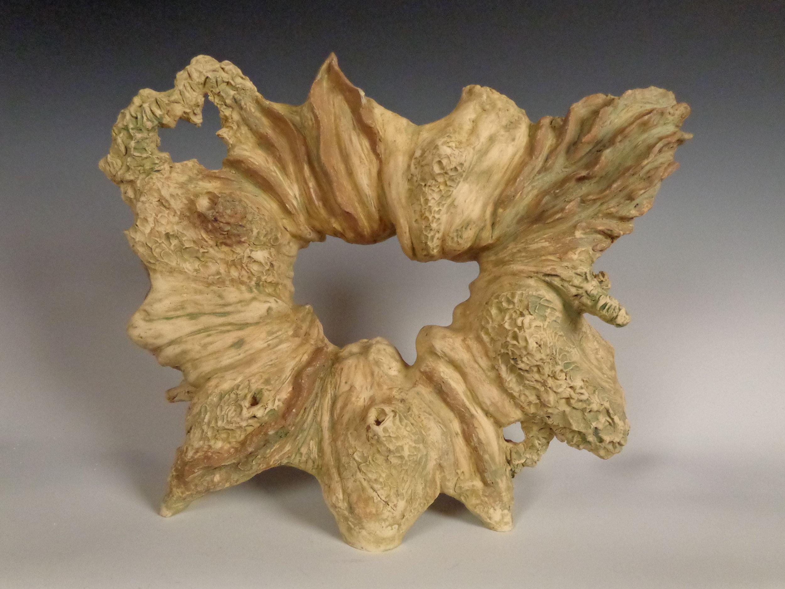 """Debra Smith, """"Ocean Portal,"""" ceramic, 12"""" X 9"""" X 4"""""""