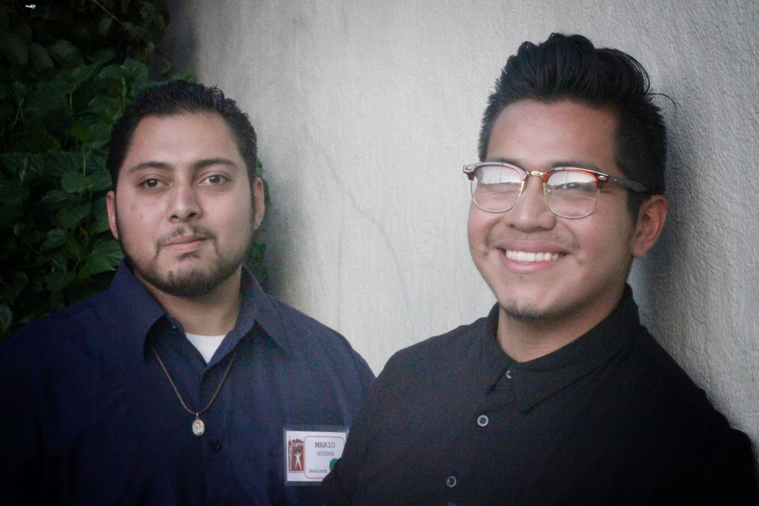 Byron Apen (Antioch Church) (right) with fellow graduate, Mario Guidos (left).