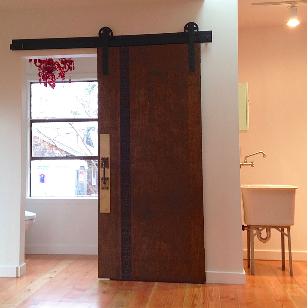 Howard Z Freeman Commercial Barn Door for Yoga Studio