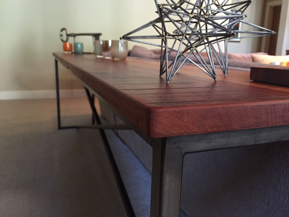 Custom Wood and Steel Table