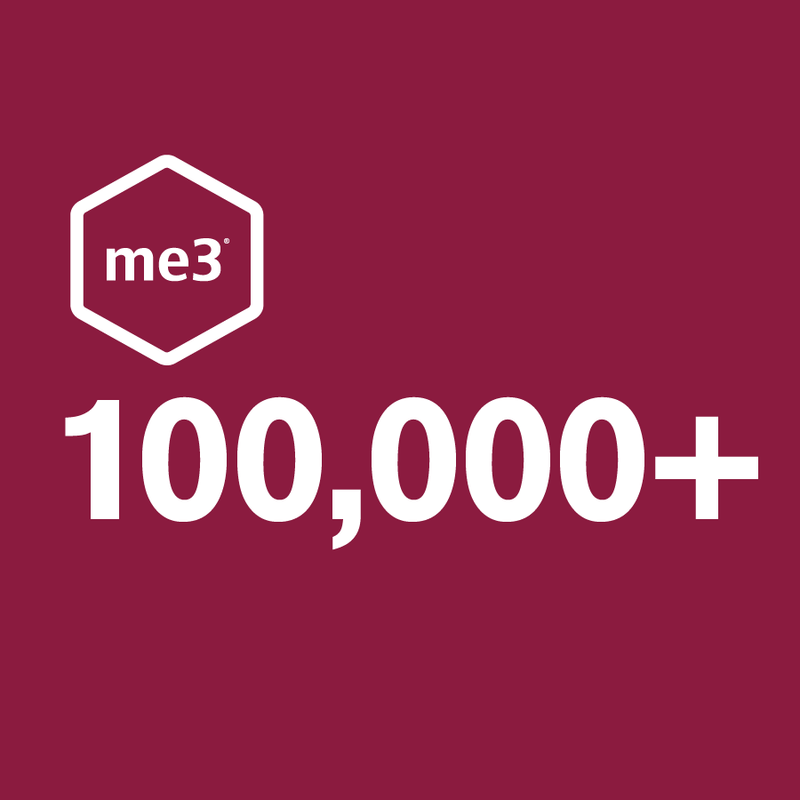 me3 users reached in August 2017 as a result of strategic outreach and marketing efforts completed in 2016/17.  -