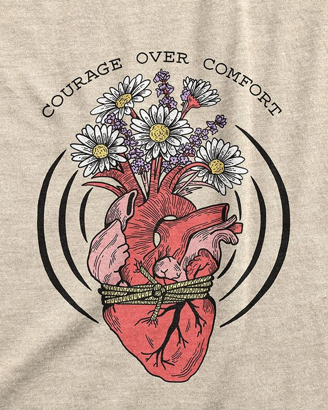 What do you need a little extra courage for? A big move, changing your career, ending a toxic relationship? I made this shirt for you.   This design is now up on my shop on an extra soft tri-blend cream tee, but I still need models for it! Sign up to become a Shoppe Queen to get 40% clothes and earn a 10% commission on anything you help sell.   To get approved you just need to take well lit in-focus photos of yourself. No min followers or engagement rate needed. Over 250 people have applied and 105 were approved so far.  Selfie shy? No worries, you can sign up for my newsletter for 20% so you can add this tee to your closet on a deal.   Link in bio for all the links   #mentalhealth #selfawareness #selfloveclub #vulnerability #personalgrowth #mindfulnessmatters #challengeyourself #selfgrowth #loveyourself #personaldevelopment #gogetit #courage #inspireothers #trustyourself #flowerdrawing #floralillustration #floraldrawing #flowerart #floralart #botanicalart #floralsyourway #botanicalillustration #positivevibes #womanartist #femaleartists #womeninart #positiveaffirmations #bravehearts