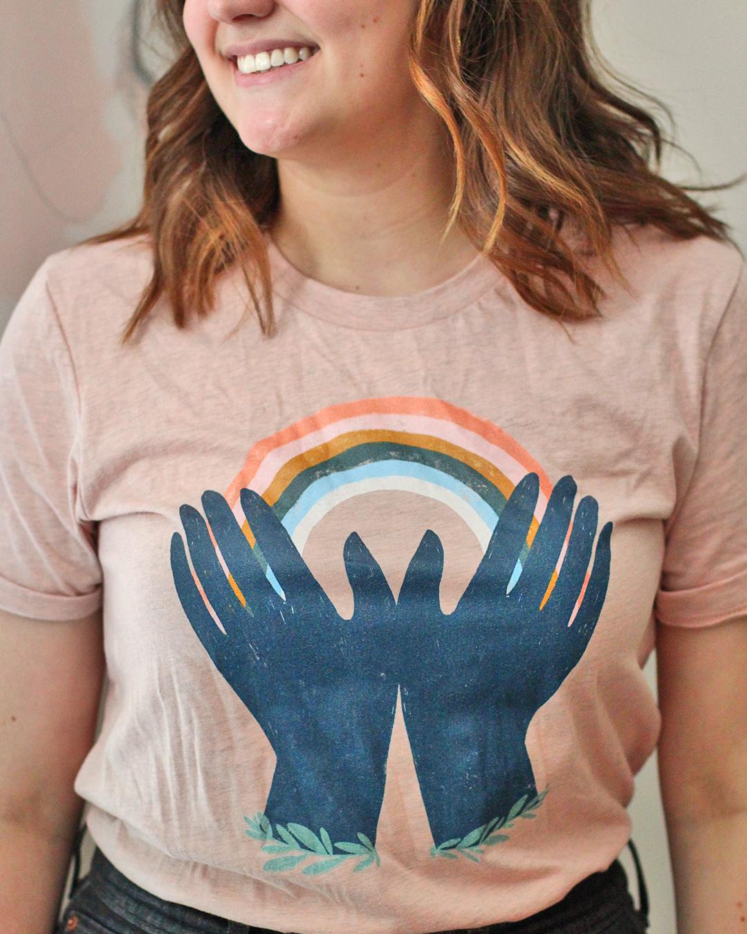 Women of Illustration_Madeline Martinez_Rainbow Tee.png