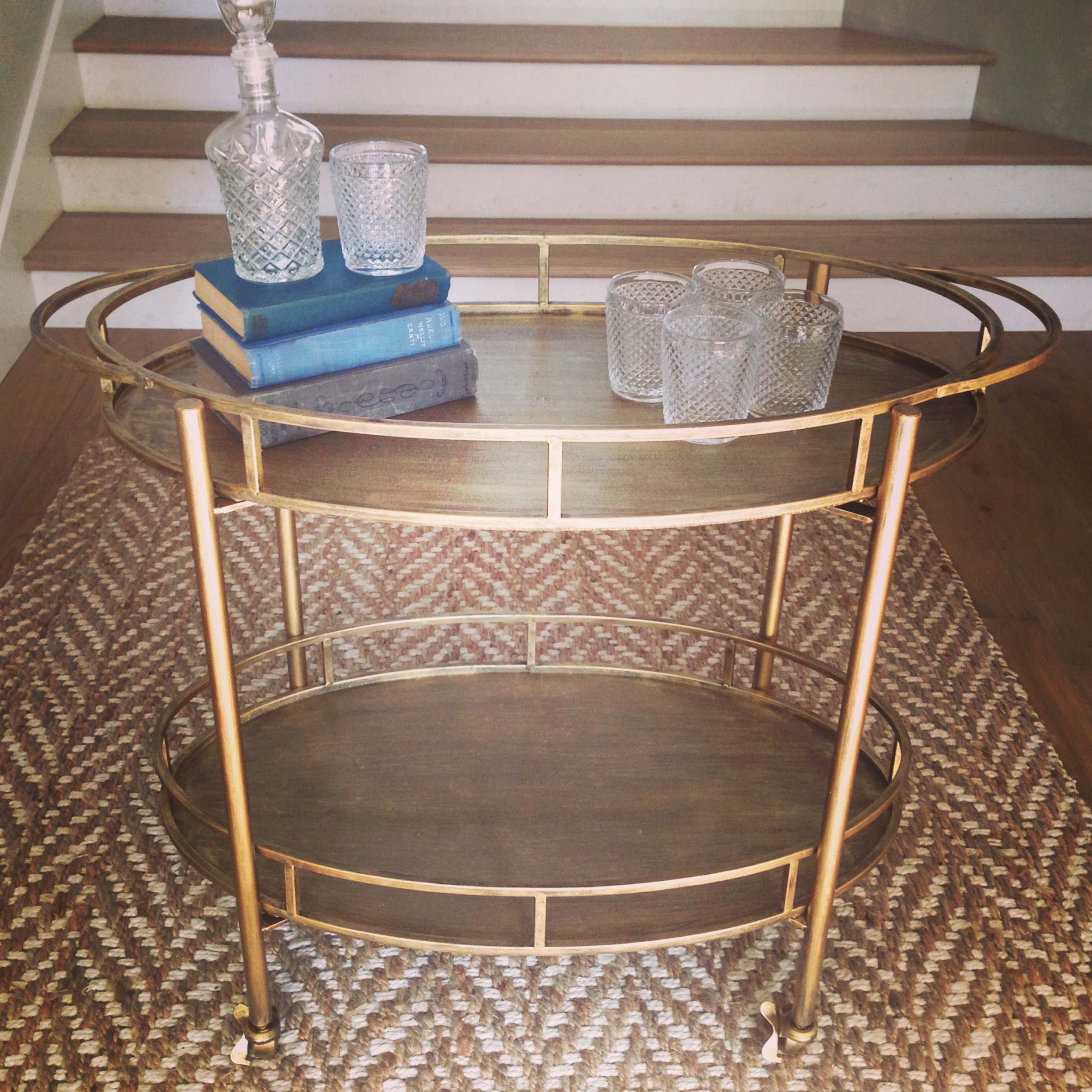 Gold Bar Cart  $60 per day  1 Available