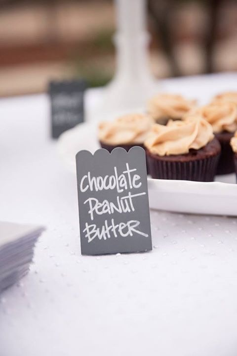 Mini Scalloped Chalkboard Sign  $2 a day, 60 Available  Photo By:  Jen Philips Photography