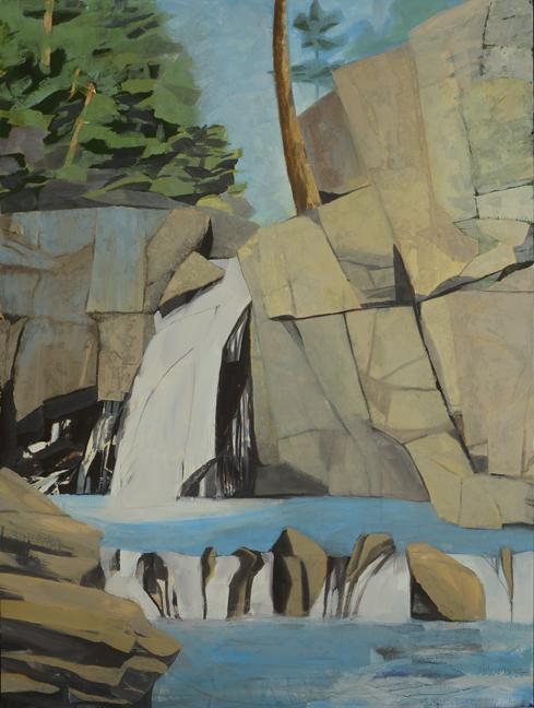 - Screw Augur Falls, Maine 2017Mixed Media on Wood Panel, 40 X 30