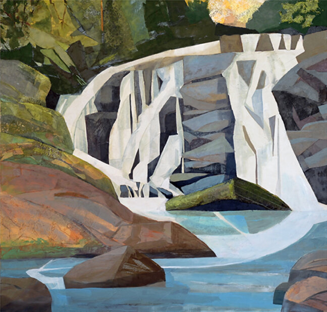 "Arc Reflected, East Fork Falls, NC 58 X 60"""