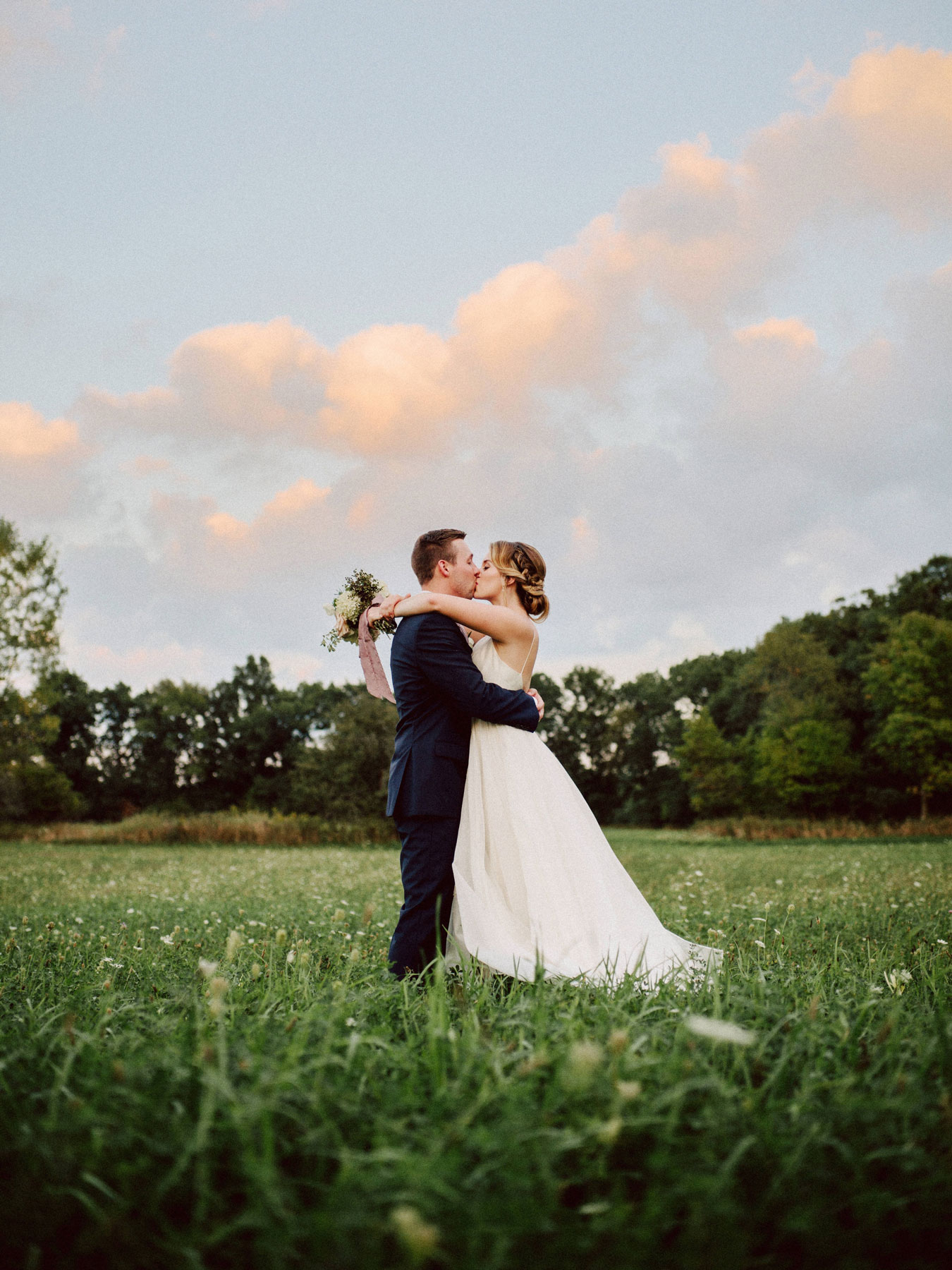 Lush fields for stunning wedding photos