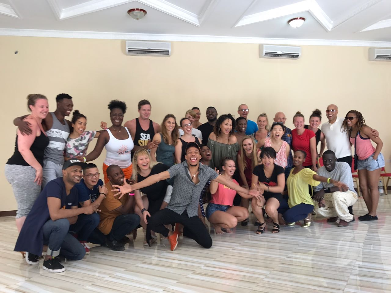 Kizomba workshop class photo - Junior & Frida, Tony & Julia