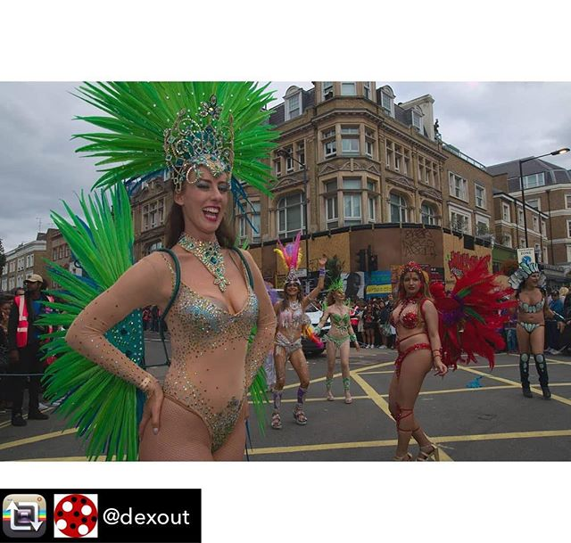 #SambaJozi director @catdanpete out on the parade route with @londonschoolofsamba this weekend!  Repost from @dexout using @RepostRegramApp - @catdanpete with @londonschoolofsamba at Notting Hill Carnival 2018