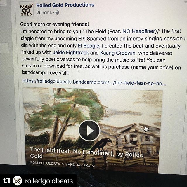 #Repost @rolledgoldbeats ・・・ That new single is out now! #TheField Feat. @innoheadlinernews! (Abraham) Lincoln Bio! #philly #hiphop #soul #blues #art #grooves #trap