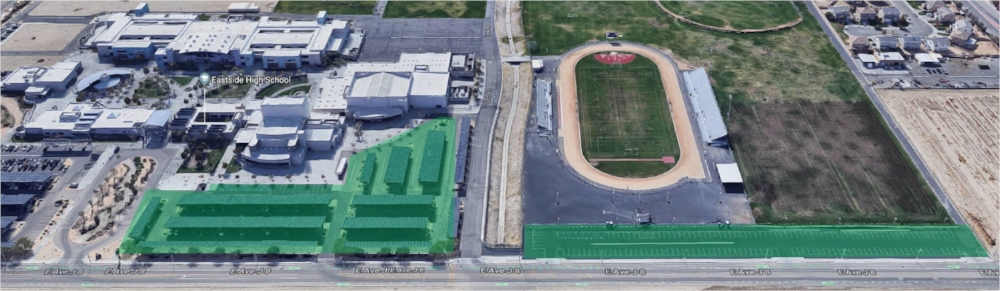 FIRST Robotics Parking Areas are in the Green Shaded Area