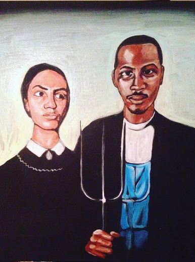 Farmer and Wife (American Gothic)