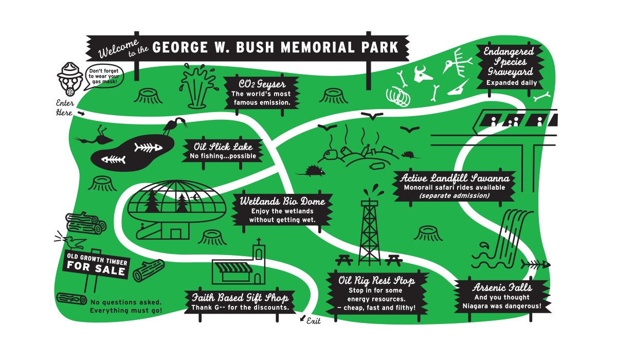 George W. Bush Memorial Park, The Nation, 2002.