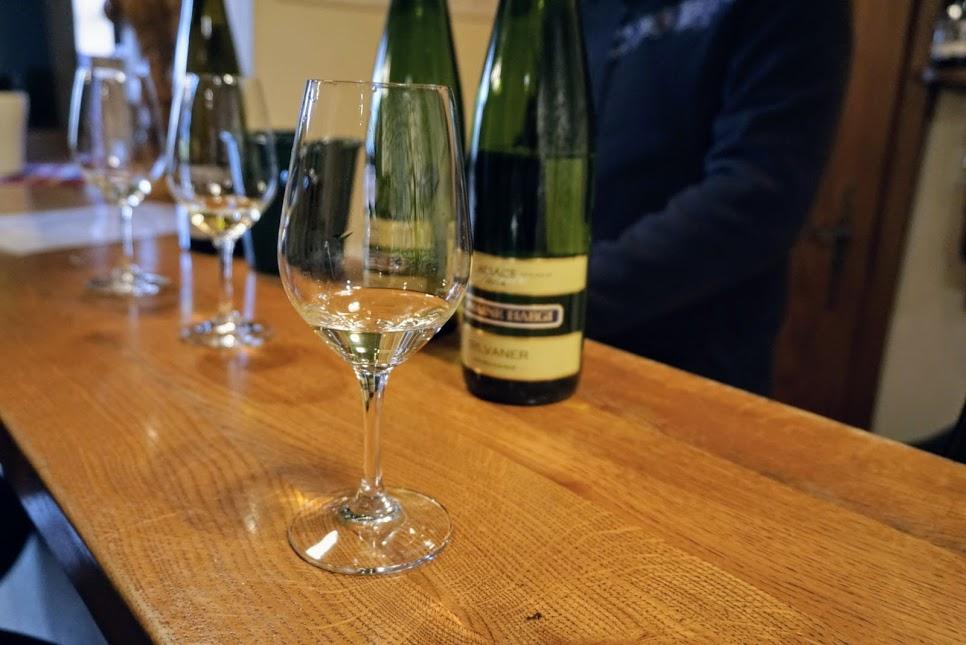 Wine tasting at Domaine Haegi Alsace