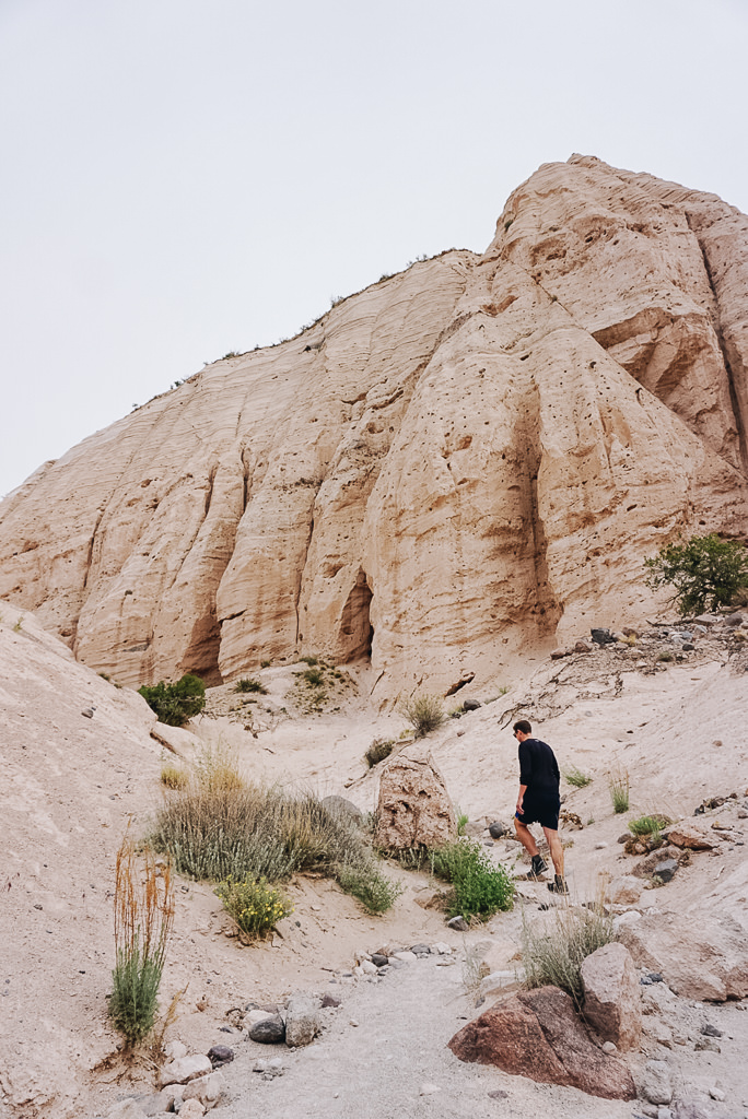 Hiking the Tent Rocks in New Mexico