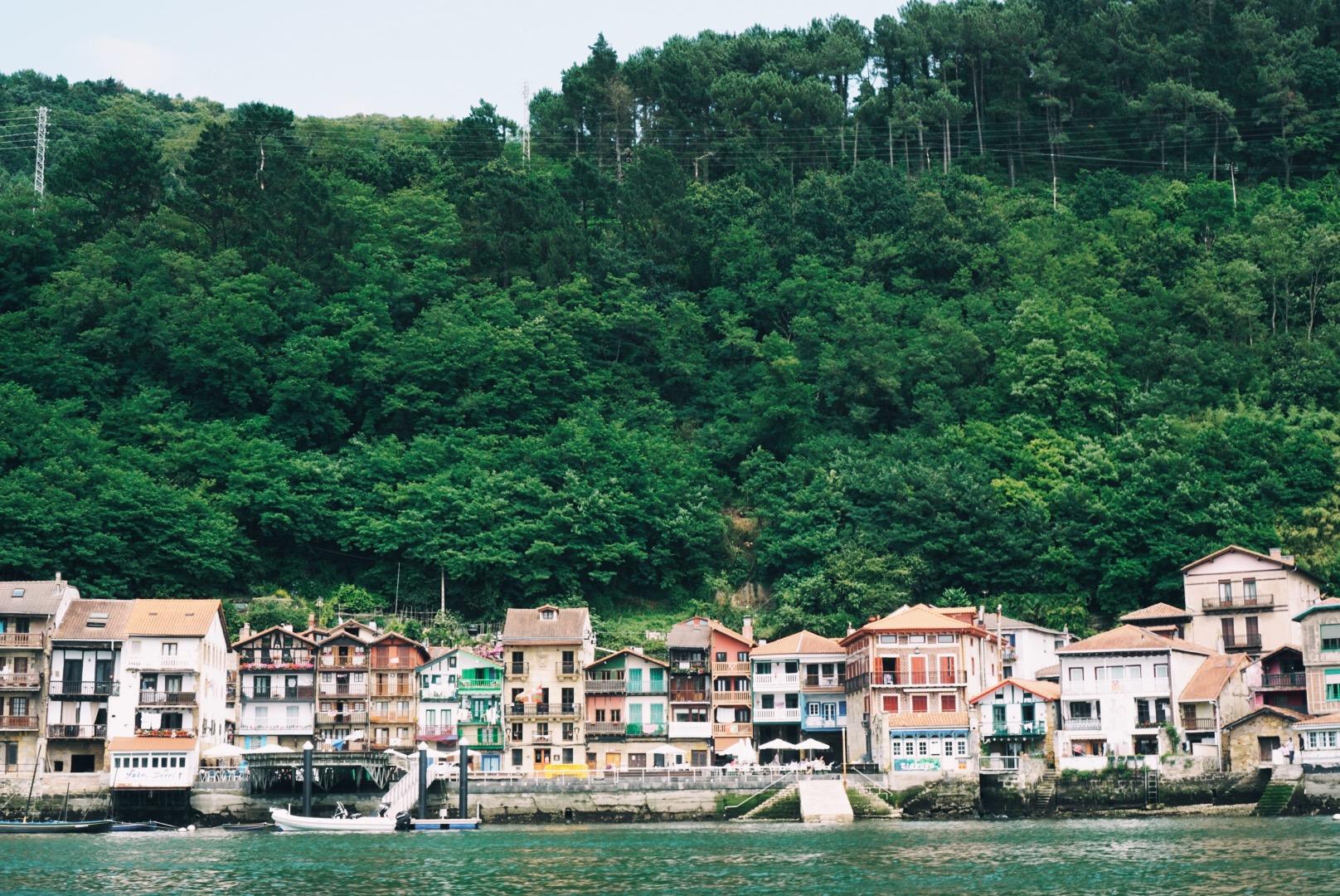 village of Pasajes de San Juan from ferry