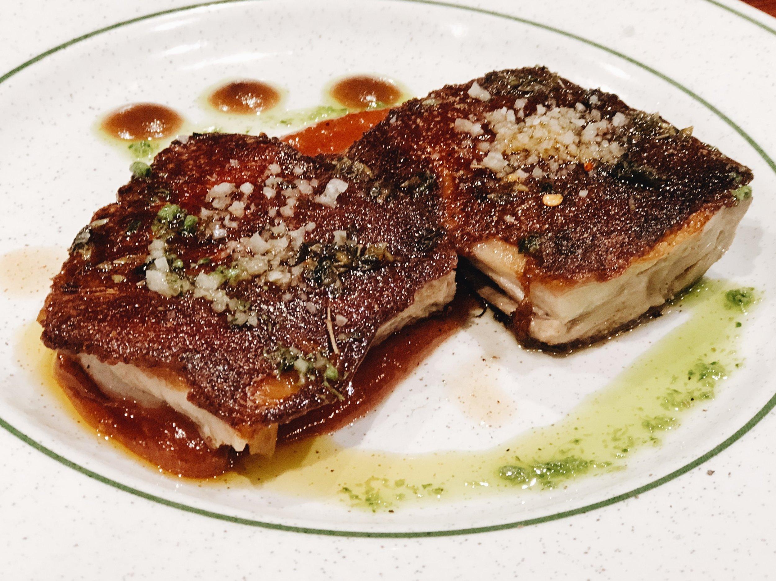cochinilla pork pintxo at La Cuchara de San Telmo San Sebastian