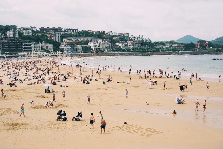 Playa La Concha, said to be one of Europe's best urban beaches.