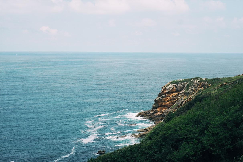 Gorgeous views of the craggy coastline.