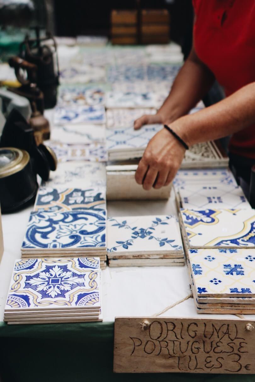 Original Portuguese tiles for sale Clerigo Porto