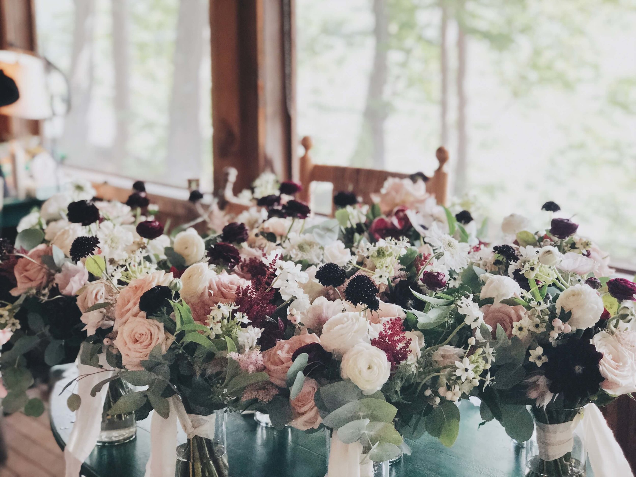 Bridal party flowers RDC Squam Lake