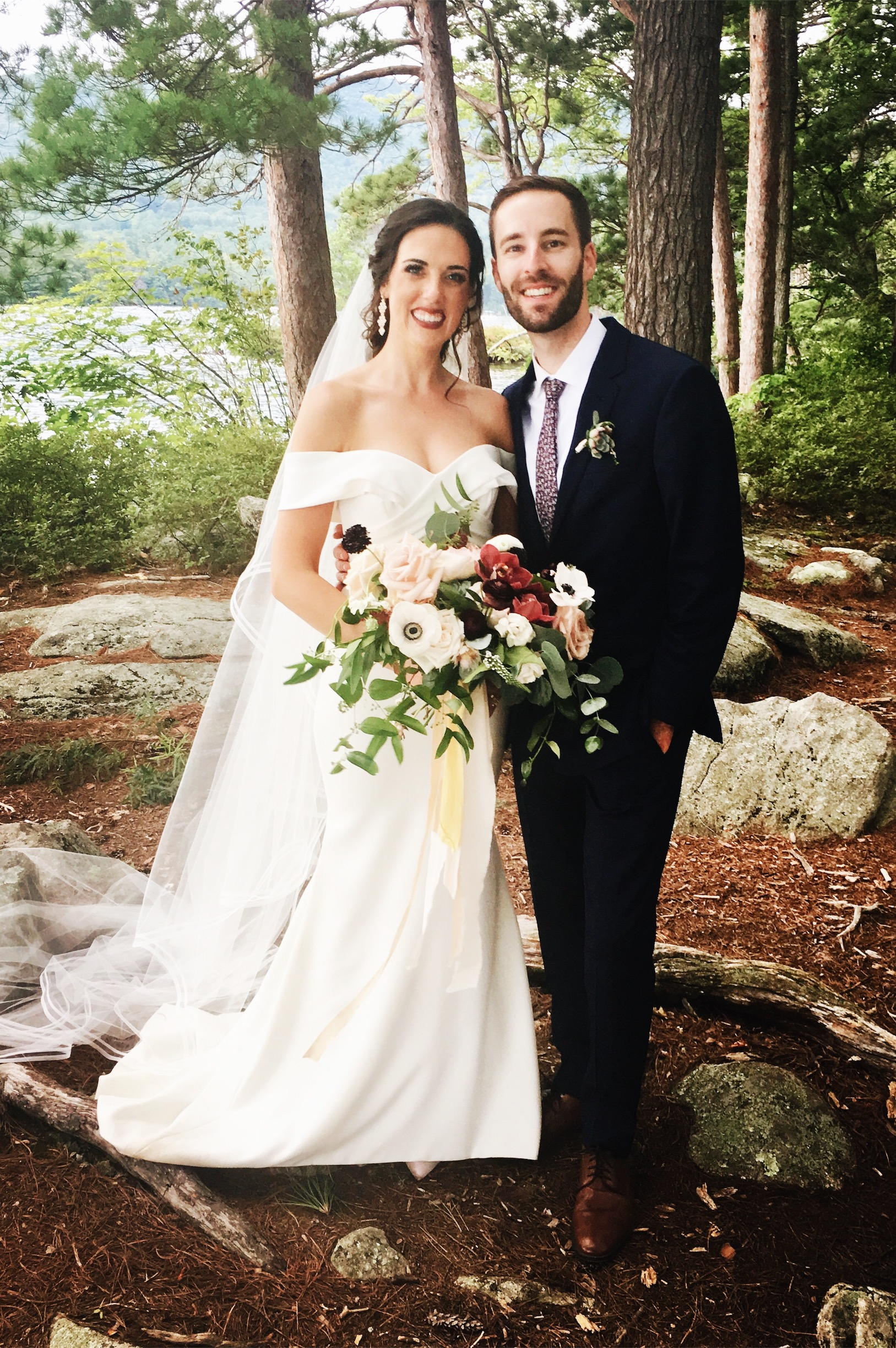 Amy and Mike Squam Lake wedding