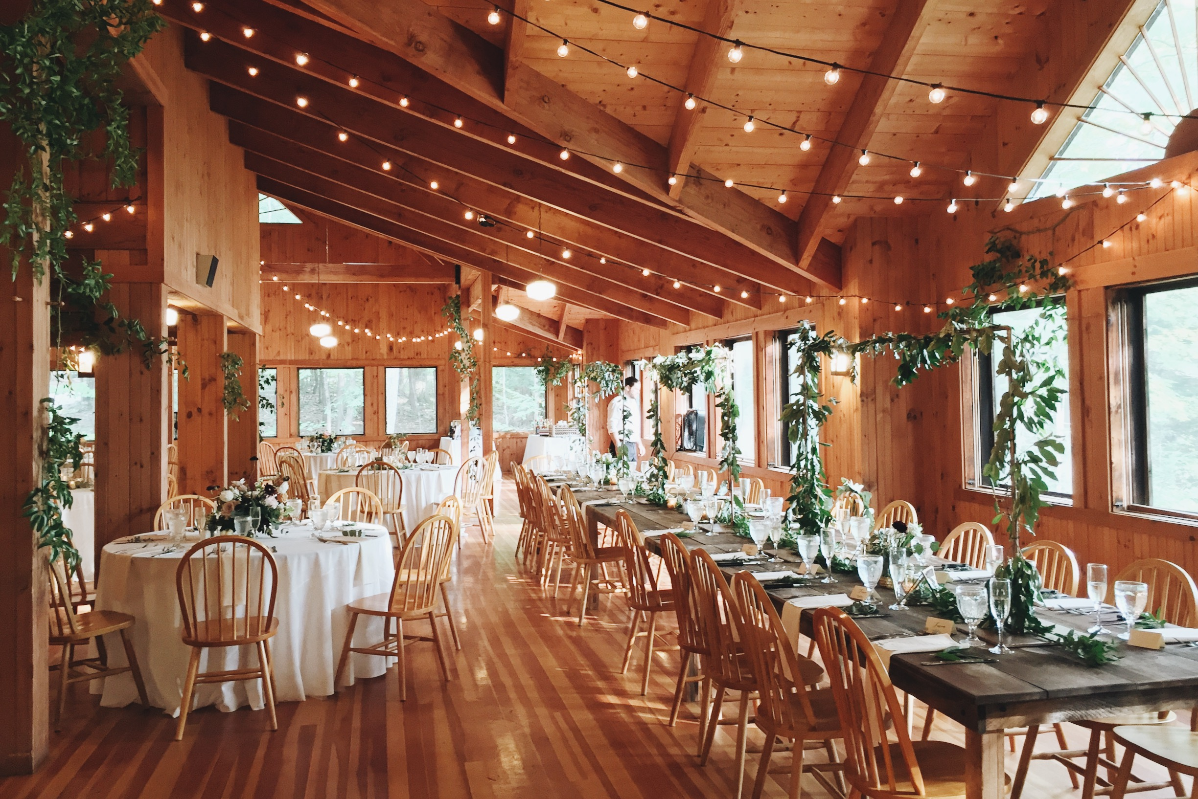 Deephaven Dining Hall rustic wedding reception